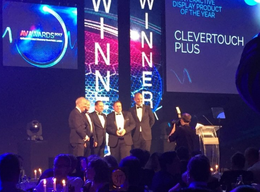 Clevertouch Plus Wins Interactive Screen Of The Year Av Award 2017