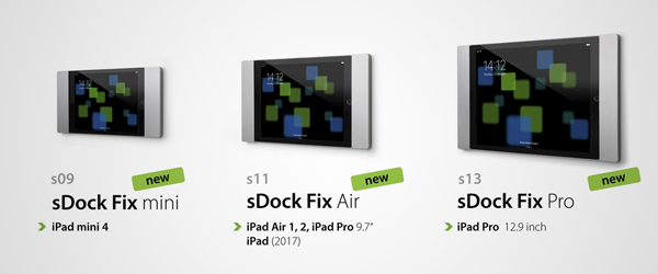 sDock Fix vægophæng passer til iPad Mini, Air og Pro